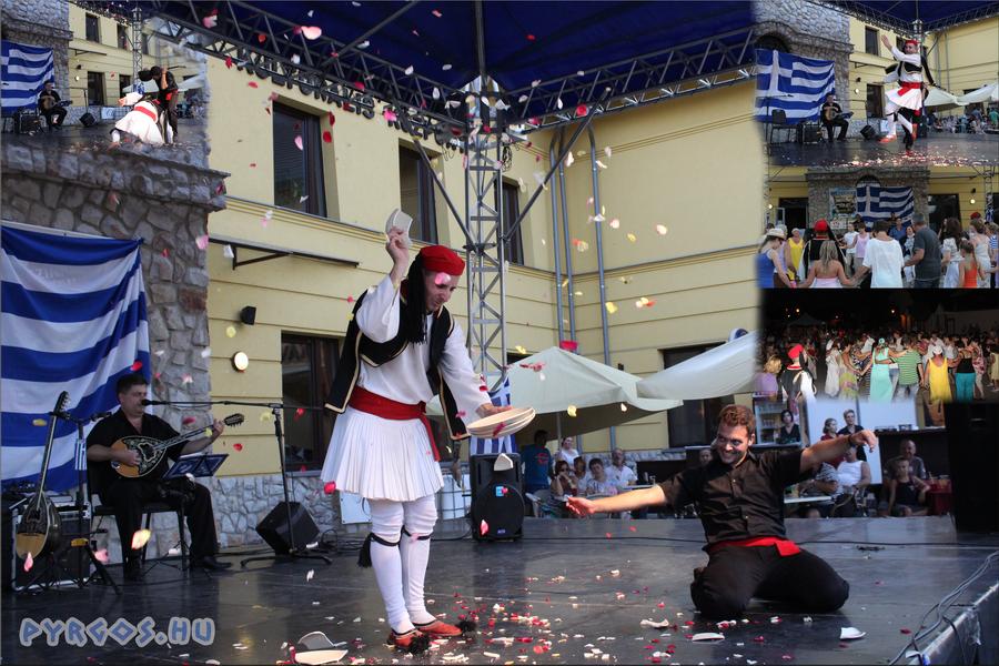Görög show  szólótánc és tányértörés