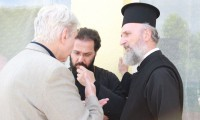 Arsenios Kardamakis bécsi metropolita ésKalota József protopresbiter